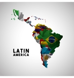 latin america map vector image vector image