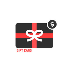 red and black gift card vector image vector image