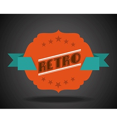 retro ribbon vector image vector image