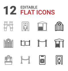 12 gate icons vector