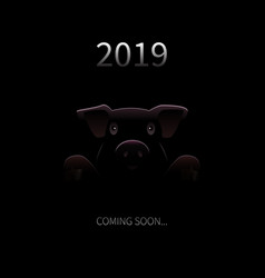 2019 new year coming soon background vector image