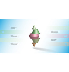 3d infographic template with spiked cone vector image