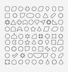 80 basic shapes outline eps 10 vector image