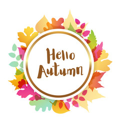 abstract autumn round banner vector image