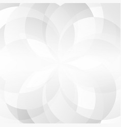 abstract gray geometric overlap on white vector image