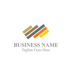 Abstract line colored business logo vector
