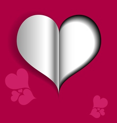 Abstract Valentine card with paper heart vector image vector image