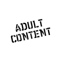 Adult Content rubber stamp vector