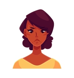 African girl face angry facial expression vector image