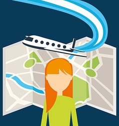 Airport concept design vector