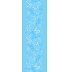 Baby boy blue vertical seamless pattern background vector