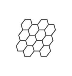Bituminous shingles line outline icon vector