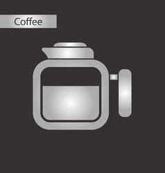 Black and white style icon coffee maker vector