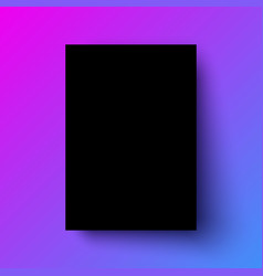 black poster mock-up vector image