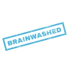 Brainwashed Rubber Stamp vector