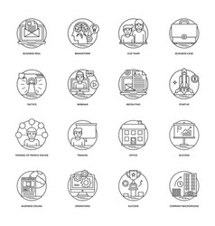 business line icons 1 vector image