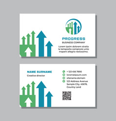 business visit card template with logo vector image