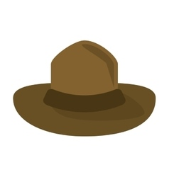canadian hat mounted policeman design vector image