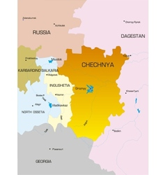 Chechen Republic country vector image