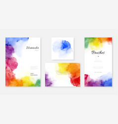 Creative template background set with bright vector
