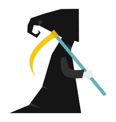 Death with scythe icon flat style vector