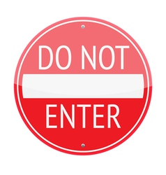 do not enrer sign vector image
