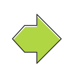 Double green arrow color icon two way navigation vector