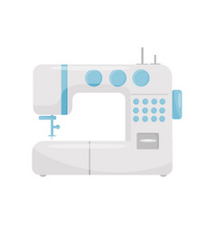 electric sewing machine with blue buttons vector image