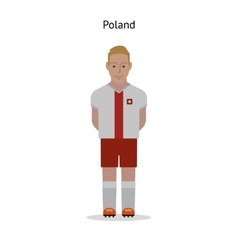 Football kit Poland vector image