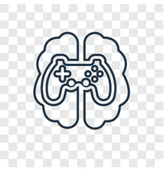 Gaming concept linear icon isolated on vector