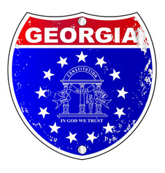 Georgia interstate sign vector