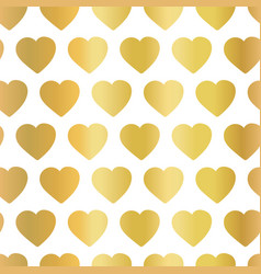 gold foil heart seamless background pattern vector image