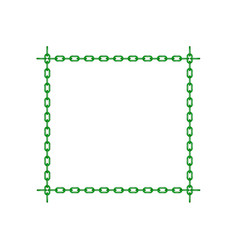 Green chain in shape of square vector