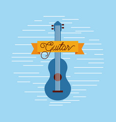 guitar jazz instrument musical festival vector image vector image