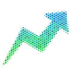 Halftone blue-green trend icon vector