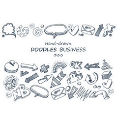 Hand-drawn elements doodles collection vector