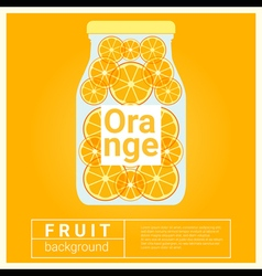 Infused water fruit recipe with orange vector image