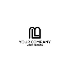 initial l and m logo design vector image