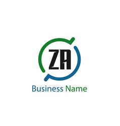 Initial letter za logo template design vector