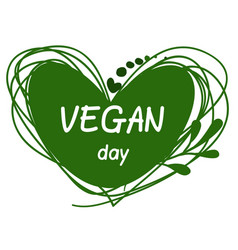 International day for vegetarians nov 1 vegan day vector