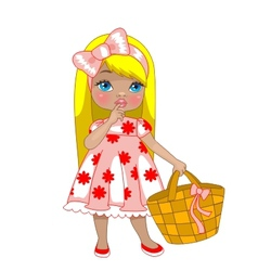 Little girl with bag vector