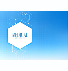 Medical and health care background concept vector