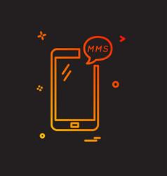 Mms phone icon design vector