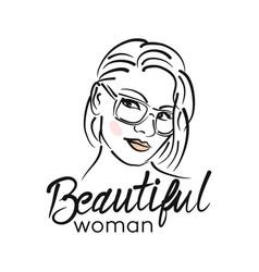 modern beautiful woman logo vector image