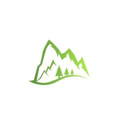 mountains logo logo outdoor adventure in mountain vector image