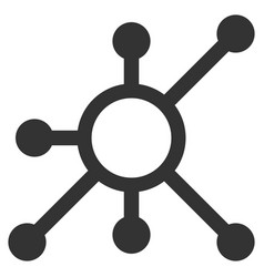 Network node flat icon vector