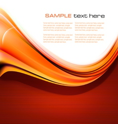 new abstract orange background vector image