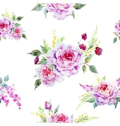 Nice rose pattern vector image