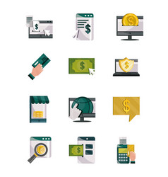 payments online money finance commerce technology vector image