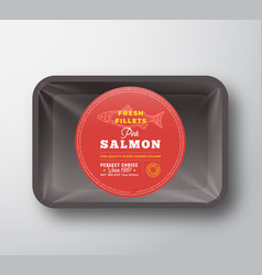 Pink salmon fillets abstract fish plastic vector